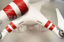 DJI Phantom RED Carbon Fiber  Sticker Strips Graphic Wrap Decal Skin FC40 1 2 3