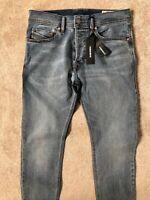 """DIESEL BLUE """"TEPPHAR"""" SLIM CARROT STRETCH 084SJ JEANS  - W 28"""" x L 30""""  NEW TAGS"""