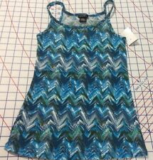 NEW RUE21 Zany Zig Zag SIZE SMALL Cami Tank Top Blues& White