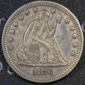 1876 Seated Liberty Quarter XF
