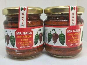 Mr Naga - Hot Pepper Pickle - 2x Jars Best In The Market  Fast and Free Delivery