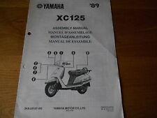 Yamaha, XC125 Assembly set up manual , 3KR 28107 W0 1989