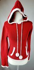 Tommy Hilfiger | Women's Red White Sweatshirt Hoodie - S/P