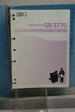 Risographriso Gr3770 Digital Duplicator User Guide To Understanding The Unit