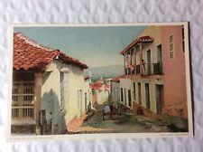 A VIEW OF QUAINT SANTAGO, THE Cuba RAILROAD postcard EARLY 1900s #L868