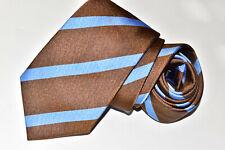 Men's Ben Silver Charleston Brown  Silk Neck Tie