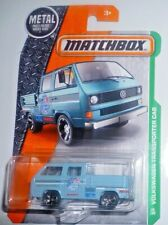 Matchbox  Volkswagen T25 Transporter Crew Cab Pickup Truck  blue - long card