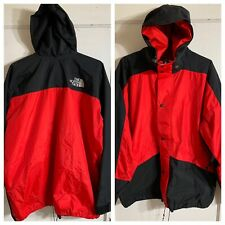 Vintage The North Face Gore-Tex Full Zip Jacket Made In Usa XL Print Red Black