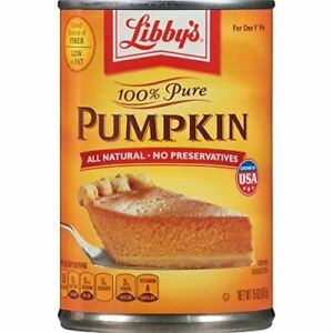 Libbys 100% Pure Pumpkin Pie Filling, 425g, Pack of 4