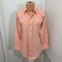 H Bar C  Pearl Snap Western Shirt 15 x 32 vintage cowboy ranchwear Rockabilly