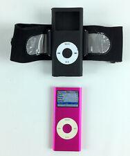 Apple iPod Nano 2nd Gen Pink 4GB - Model A1199 w/Arm Band Bundle & 441 Songs