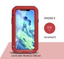 Coque Antichoc blindée iPHONE X - LOVE MEI FRANCE - étanche - rouge