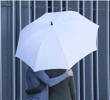 Extra LARGE Automatic White Nylon Umbrella Foam Grip Wedding Golf Photo Shoot UK