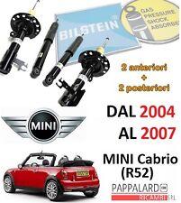 4 AMMORTIZZATORI ANTERIORI+POSTERIORI BILSTEIN MINI Cabriolet COOPER/ONE/S (R52)