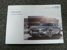 2010 Audi S4 Quattro Sedan Owner Owner's Manual User Guide Premium Plus 3.0L