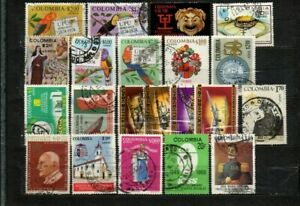 Colombia stamps lot 20 used items in good cond. as seen combine shipping 3/3
