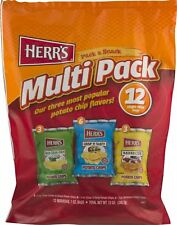 Herr's Multi Pack Variety Potato Chips- Individual 1 oz. Bags (12 Count Varie...