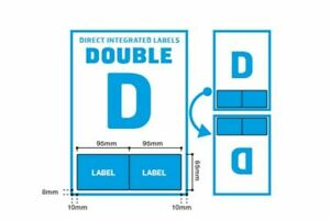 Double D Integrated Labels for Royal Mail Ebay Amazon Sellers A4 x1000 Labels