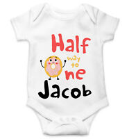 Personalised Baby Grow Vest Bodysuit Boys Girls Name Funny Baby Shower Gift 112