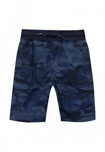 Gap Kindershort Bermudashort Kinder Hose Short Militär Blau Camouflage XL 152