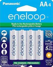 Newest Panasonic Eneloop 4 AA 4th Gen NiMH Rechageable Batteries 2100 Cycles
