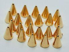 200 Gold Tone Punk Acrylic Spike Tiny Stud 4X6mm No Hole Flatback Cabochon
