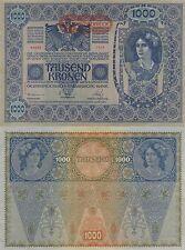 AUSTRIA 1000 KRONER. 2 de Junio de 1902. Número 64085 - 2504. Tamaño 193x130.