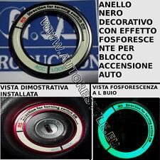 ANELLO NERO TUNING BLOCCO ACCENSIONE EFFETTO FOSFORESCENTE PER KIA RIO 2011