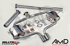 Milltek Mini Cooper S R53 Cat Back Exhaust Non Resonated en acier inoxydable