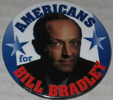 Americans for Bill Bradley 2000 Campaign Pin 2.25""