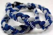"Sale! 24"" 20"" Necklace 8"" Bracelet Tornado Twist Titanium 3 Rope Twist Sport New"