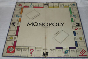 Vintage Parker Bros. Monopoly Board only, dated about 1946-51.