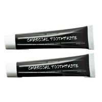 Bamboo Charcoal Toothpaste Whitening Black Remove Stains Bad Breath - 2 Pack.