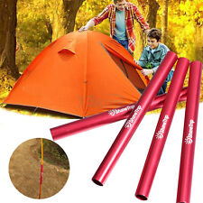4Pcs Aluminum Outdoor Tent Emergency Pole Repair Tube Tools For Dia 7.9-8.5mm
