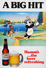 HAMM'S BEER Baseball Poster - 10 x 14.8 inches