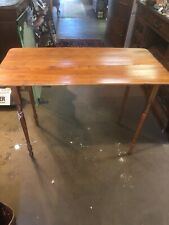 Vintage Antique Sewing Wood Stand Folding Table