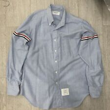 THOM BROWNE MEN'S SHIRT - BLUE - USED 8/10 CONDITION - SIZE 3 / XL - RRP £360