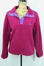 Women's Vintage Woolrich Snap Neck Fleece Pullover Size Medium Made in USA