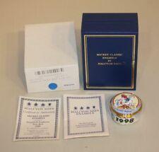 1998 Halcyon Days Enamel Trinket Box Disney Donald Duck & Nephews 110/1998 Coa