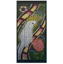 Hand Painted Cockatoo Bamboo Door Curtain Bird Australia