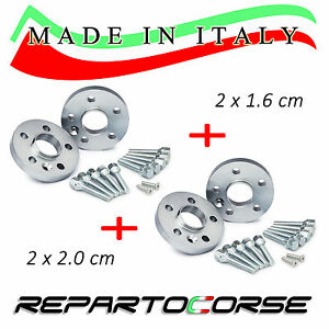 ELARGISSEUR DE VOIES REPARTOCORSE 2x16mm+2x20mm SUZUKI SWIFT 3 SPORT M. IN ITALY
