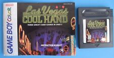 Las Vegas Cool Hand with Manual Nintendo Game Boy Color plays in GBA SP System