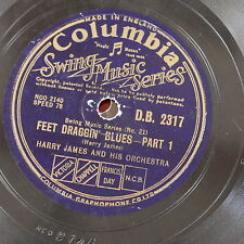 78 rpm HARRY JAMES feet draggin blues