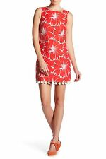 NWT- Trina Turk 'Pleasant' Large Floral Print Shift Dress, Coral/White - Size 2