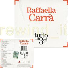 """RAFFAELLA CARRA """"TUTTO IN 3 CD"""" BOX 3 CD - SIGILLATO"""