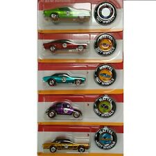 Hot Wheels 50th Anniversary With Buttons Complete Set of 5
