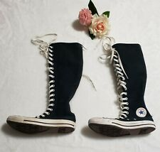 Converse All Star Knee High Chuck Taylor Shoes Black Unisex Mens 4 Womens 6 USED