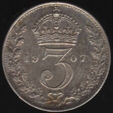 More details for 1907 edward vii silver threepence coin | british coins | pennies2pounds