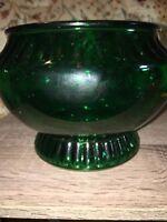 Vintage NAPCO Emerald Green Flower Vase Planter Cleveland OH USA 1176 Bowl