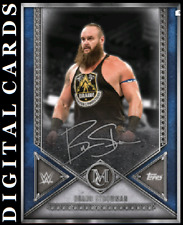 TOPPS WWE SLAM MUSEUM COLLECTION 2020 SILVER SIGNATURE BRAUN STROWMAN